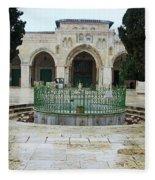 Al Aqsa Main Entrance Fleece Blanket
