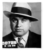 Al Capone Mugshot Painterly Fleece Blanket