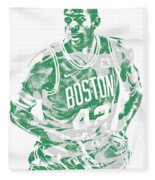 Al Horford Boston Celtics Pixel Art 6 Fleece Blanket