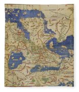 Al Idrisi World Map 1154 Fleece Blanket