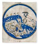 Al-idrisi's World Map Fleece Blanket