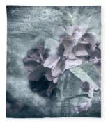 Alabaster Petals Fleece Blanket