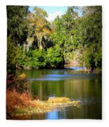 Alafia River Fleece Blanket