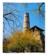 Alamo Portland Cement Factory II Fleece Blanket