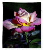 Alan Rose Fleece Blanket