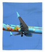 Alaska 737-990 N318as Spirit Of Disneyland Phoenix Sky Harbor November 27 2017 Fleece Blanket
