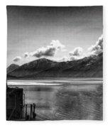 Alaska Black  Fleece Blanket