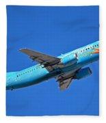 Alaska Boeing 737-490 N791as Tinker Bell Phoenix Sky Harbor January 12 2016 Fleece Blanket