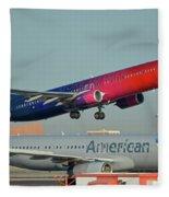 Alaska Boeing 737-900 N493as More To Love Phoenix Sky Harbor October 27 2017 Fleece Blanket