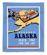 Alaska Death Trap Fleece Blanket