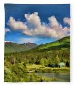 Alaska Digital Paint Fleece Blanket