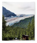 Alaska Glacier B Fleece Blanket
