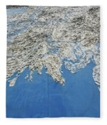 Alaska Map Wall Art Fleece Blanket