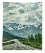 Alaska On The Road  Fleece Blanket