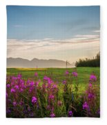 Alaska Summer Love Fleece Blanket