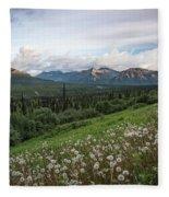 Alaskan Dandelions  Fleece Blanket