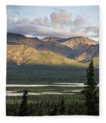 Alaskan Glacial Valley Fleece Blanket