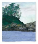 Alaskan Islet Fleece Blanket