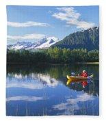 Alaskan Kayaker Fleece Blanket