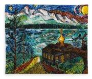 Alaskan Orthodox Church Fleece Blanket