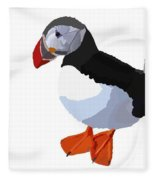 Alaskan Puffin Fleece Blanket
