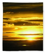 Alaskan Sunset Fleece Blanket