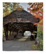Albany Covered Bridge Fleece Blanket
