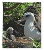 Albatross Mom And Baby Fleece Blanket