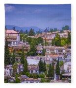 Albayzin View Granada Fleece Blanket