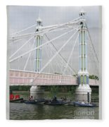 Albert Bridge Fleece Blanket