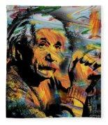Albert Einstein - By Prar Fleece Blanket