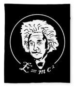 Albert Einstein Discoverer Of The Law Of Relativity Fleece Blanket