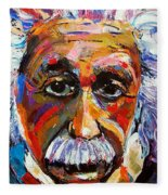Albert Einstein Genius Fleece Blanket