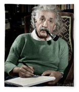 Albert Einstein Fleece Blanket