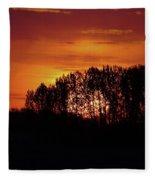 Alberta Sunset Fleece Blanket