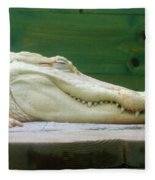 Albino Alligator Fleece Blanket