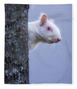 Albino Squirrel Fleece Blanket