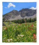 Albion Summer Flowers Fleece Blanket