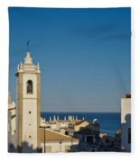 Albufeira Streets Fleece Blanket