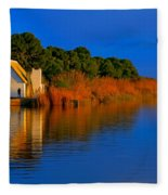 Albufera Blue. Valencia. Spain Fleece Blanket