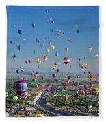 Albuquerque Balloon Fiesta Fleece Blanket