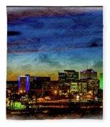 Albuquerque New Mexico Skyline Fleece Blanket