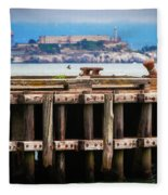 Alcatraz Beyond The Pier Fleece Blanket