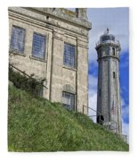 Alcatraz Cell House And Lighthouse Fleece Blanket