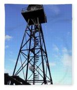 Alcatraz Guard Tower - San Francisco Fleece Blanket