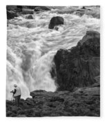 Aldeyjarfoss Waterfall Iceland 3381 Fleece Blanket