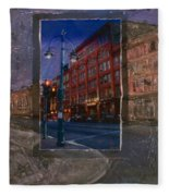Ale House And Street Lamp Fleece Blanket