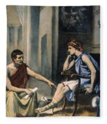 Alexander & Aristotle Fleece Blanket