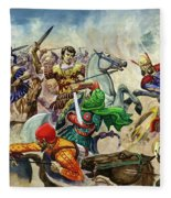 Alexander The Great At The Battle Of Issus  Fleece Blanket