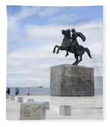 Alexander The Great, Thessaloniki, Greece Fleece Blanket